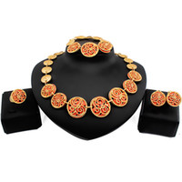 Wholesale Best Western Gift - Best Hot High Quality Jewelry Set Necklace Earring Ring Bracelete For Wedding Party Giving Gift In Afrca Western Middle Eastern Q-LL02