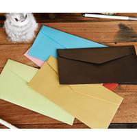 Wholesale Wedding Invitations Bag - 50 Blank Cardboard Gift Bag Envelope For Christmas Greeting Card Wedding Invitation Decorate