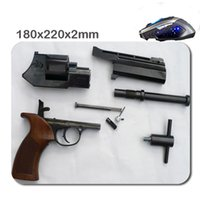 Wholesale Good Cheap Computers - Cheap And Good Pistol Series Custom High Quality Skid Durable Fashion Computer And Laptop Gaming 180*220*2mm Mouse Pad