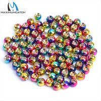 Wholesale Wholesale Fishing Pliers - Wholesale- Maximumcatch 2.8mm 50pcs Round Ball Tungsten Fly Fishing Tying Beads Multi-Color Fly Fishing Tungsten Beads