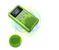 Wholesale LV290 Mini Portable Rechargeable Radio Digital LED display Stereo SD Card MP3 Music FM Radio Player