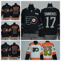 Philadelphia Flyers # 28 Giroux Stadium Series Jerseys de hockey Hommes Hockey Vive 2017 Philadelphie # 17 Simmonds # 53 Gostisbeh # 11 Konecny