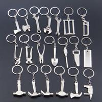 Wholesale Hammer Key Ring - Creative Tool Alloy Mini Shovel Keychain Keycover Electrician Mens Key Chain Ring Keyring Hammer Pliers Metal Keychain For Bag Car Wholesale