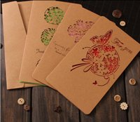 Wholesale wedding greeting cards design resale online - New Design Christmas Decorations Retro Greeting Cards Laser Cut Card Kraft Greeting Cards Business Card Wedding Party Can Ues
