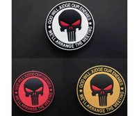 Wholesale Wholesale Denim Caps - Free shipping Brand New the Punisher Skull High Quality Rubber PVC Armband Clothing Backpack Bag Cap Badge Morale Patches