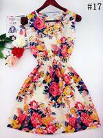 Wholesale Korean Floral Beach Dresses Women - 2017 summer autumn new Korean Women casual Bohemian floral leopard sleeveless vest printed beach chiffon dress vestidos WC0344