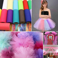 Wholesale Sheer Table Runners - 1pc 22mX15cm Organza Sheer Gauze Element Wedding Table Runner Decoration 23colors Yarn Roll Crystal Tulle Wedding Favors