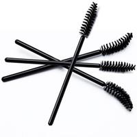 Wholesale Elbowed Brush - 2016 new Makeup eyelash brush eyelash comb eyebrow brush eyebrow comb elbow disposable mascara brush Applicator black