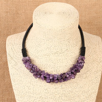 Wholesale Natural Stones String - Bohemian Necklace Necklaces Hot Sale Colorful Natural Stone Chockers Necklaces For Women Girl Jewelry Wholesale Free Shipping 0605WH