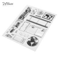 Wholesale Scrapbooking Sheets - Wholesale- Romantic Vintage Transparent Rubber Clear Stamp Scrapbooking Craft Sheet Card Set DIY Photo Album Account Transparent Silicone
