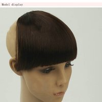 Headband Bangs Hairpiece Pas Cher-Hairpieces Femmes épais cheveux Bangs Seamless Wiglet Clip-In Bangs Front Lace Extensions de cheveux Synthétique Bang Headband Faux Fringe