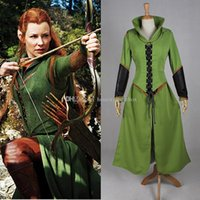 2016 Brand New Women Tauriel Outfit Superhero Costumes Halloween Custom Made Movie The Hobbit Dress Cosplay Costumes