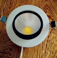 ingrosso cob led dimmerabile da incasso downlight-Faretto a led luminoso dimmerabile COB Faretti a soffitto a soffitto 3W 5W 7W 10W 12W 15W 20W LED da incasso a soffitto Lampada da interno