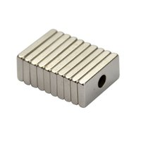 Wholesale Neodymium Magnets Holes - 10pcs 20mm * 10mm * 3mm Hole 4MM Rectangular Magnets 20x10x3 Rare Earth Neodymium Magnets Door Magnetite Neodimio Magneten