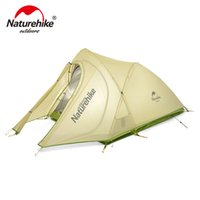 Wholesale Construction Aluminum - NatureHike Tent Ultralight 2 Person 20D Nylon Farbic with Silicon Coated Waterproof Outdoor Camping Tents with Mat NH17T0071-T