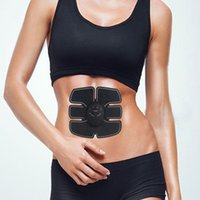 Wholesale Electric Slimming - NEW Abdominal Muscle Trainer body Massage ABS Electric slimming massage Training six pads effective thin loss weight belly massager