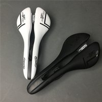 Wholesale Saddle White - Road bike san marco carbon fiber saddle with leather black white carbono fibre cycling bicycle seat