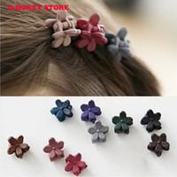 Wholesale Gripper Claw Clip Hairpin - 2017 New arrivals Korea hair accessories hairpin small flowers gripper original Korean children hair clip bangs wholesale