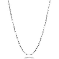 Wholesale Sterling Silver Chokers For Women - 100% Pure 925 Sterling Silver 1MM Slim Seeds Chain Short Choker Necklace for Pendant Charms 45cm 40cm for Women Girls Best Gift