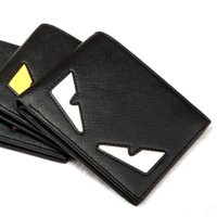 Wholesale Wholesalers Men Small Wallets - PU and Really leather 2017 small monster wallet Men's short-sleeved cross section of the youth personality soft wallet tide fashion wallet