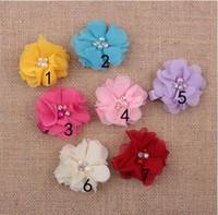 verano nias accesorios para el pelo beb peona flor de tela horquillas princesa seda barrettes adornos