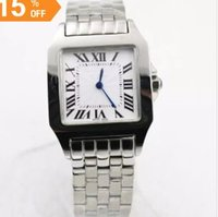 Wholesale Perpetual Women - 2017 New ladys Gift Santox Square womens Watch white face Stainless steel luxury quartz Skeleton Cheap Sale top quality women watch 30MM