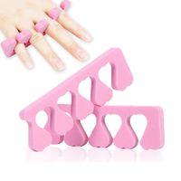 Wholesale Toe Nail Art Heart - Pink Color Toe Separator Heart Soft Form Finger Foot Sponge Soft Gel UV Nail Art Salon Manicure Pedicure Tools