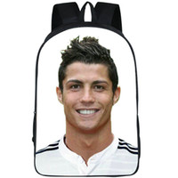 Wholesale backpack pictures - Football fans backpack Cristiano Ronaldo daypack Soccer cr7 picture schoolbag Quality rucksack Sport school bag Outdoor day pack
