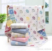 Wholesale Dot Bath Towel - Baby Swaddle Blankets Newborn Baby Bath Towels Infant Soft Wrap Cartoon Sleep Sacks Cloud Star Animals Robes Dotted Printed Swaddling H594