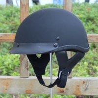 Wholesale Casque Helmet Moto Vintage - Wholesale- DOT Vintage Motorcycle Helmet for Harley Open Face Retro Helmets Moto Motocicleta Capacete Casco Casque Kask Cruiser Half Helmet