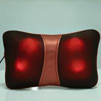 ingrosso pacchetto farfalla-Multi Function Bone Shape Collo posteriore Cuscino massaggiante impastante per auto a casa con funzioni Hot Pack Design a farfalla