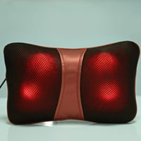 Wholesale bones pillow - Multi Function Bone Shape Neck Back Deep Kneading Massage Pillow for Car Home with Hot Packs Function Butterfly Design