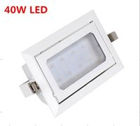 Wholesale Rotary Light Switch - Wholesale- 2pcs lot 40W SMD Rotary down light Matte LED Rectangular SMD Angle adjustable Flood lamp Bath room Indoor Home lamp+LED Driver