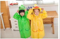 Wholesale Kid Raincoats - Linda Funny Rain Coat Kids Children Raincoat Rainwear Rainsuit Kids Waterproof Animal Raincoat 5 color HOT
