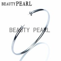 Wholesale Silver 925 Polished Bangle - Bulk of 3 Pieces Bracelet Blank Mount Polished 925 Sterling Silver Simple Bangle for DIY Jewellery Findings