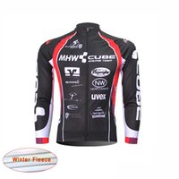 Wholesale Cube Black Thermal - New cube team Pro Cycling Jersey bike clothes Ropa Ciclismo maillot thermal fleece Winter Bicycle clothing men's long sleeve MTB Wear B1306