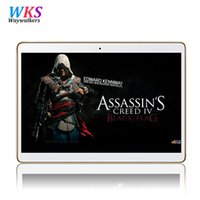 Wholesale Phone Smart Greek - Wholesale- 2017 Newest 10 inch 3G 4G Lte Smart Tablet PC Octa Core 4GB RAM 64GB ROM Dual SIM Cards Android 5.1 call Tablet PC 10 10.1