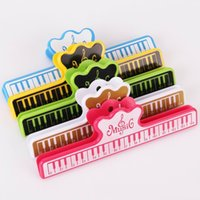 Wholesale Book Clip Notes - Fashion Music Book Note Paper Ruler Sheet Music Spring Clip Holder For Piano Guitar Violin Viola Cello Performance Practice