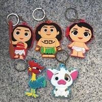 Wholesale Small Car Phone - Moana Heihei Waialiki Charizard Key Rings 2017 PVC Cartoon Animal Car Bag Cell Phone Pendant Keychain Toys Gifts 5 Style WD027