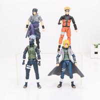 Wholesale Naruto Minato - Naruto Figure SHF Figuarts Sasuke Naruto Namikaze Minato Hatake Kakashi Collectible Action Figures Toys S.H Figuarts Figurine