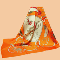 "Wholesale Twill Silk Scarfs - Wholesale- Huajun || new year new color ""Springs"" 90 silk scarf 100% mulberry silk twill scarf printing shawl"