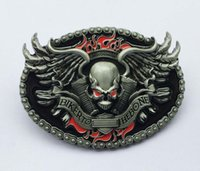 Wholesale Fire Belts - Biker To The Bone Skull Engine On The Fire Belt Buckle SW-BY523 suitable for 4cm wideth snap on belt with continous stock