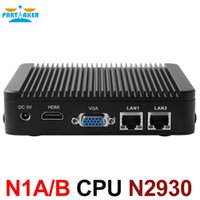 Wholesale Tv Box For China - Partaker Cheap MINI PC for office mini computer Celeron N2930 htpc tv box gaming pc with 1 COM Port