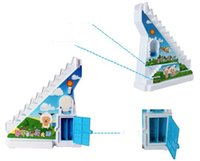 Wholesale Railing Stairs - Climb the stairs children toy baby rotating slide rail electric music Thomas train