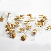 Wholesale Bottle Glass Pendant Cork - Wholesale- 11x22MM Cork Wood Mini Glass Bottles 100PCS Plastic Stopper Small Bottle Vial Jars Pendants Craftwork Drift Bottle Storage Craft