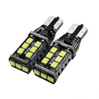 luz t15 al por mayor-T15 T10 15SMD LED W16W NO 2 piezas de CANBUS LED del coche de la luz del revés 7.5W ERROR CANBUS copia de seguridad de la luz trasera de la lámpara blanca de estilo de coches