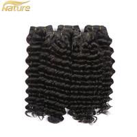 Wholesale Double Drawn Virgin - High Quality 100% Human Hair Manufacturer Cheap Double Drawn Virgin Remy Deep Wave Brazilian Hair For Women