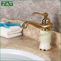 painting bathroom vanities - Basin Faucet Jade Painting Single Lever Golden Classic Bathroom Faucet Torneira De Banheiro Cold Hot Vanity Sink Tap FLG100094