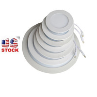 Wholesale ultra thin led downlights - Led Round slim panel downlights 6W 9W 12W 15W 18W 24W recessed bathroom ultra thin pannel light bulb bedroom luminaire