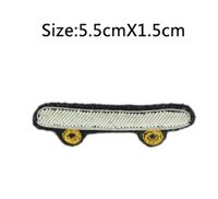 Wholesale Hand Embroidered Badges - 2017 New High quality 3D HAND EMBROIDERED Skateboard PIN Jewelry Patches Badge France BULLION WIRED BLAZER BROOCHES